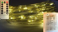 60 LED WARM WHITE Battery String Light+Remote Control+8Mode+Use IN/Outside+Timer