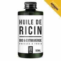 HUILE DE RICIN BIO 100% Pure et Naturelle. Pressée à Froid Extra Vierge Accél...