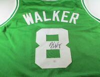 KEMBA WALKER / AUTOGRAPHED BOSTON CELTICS GREEN CUSTOM BASKETBALL JERSEY / COA