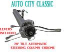 Street Hot Rod Stainless Tilt Steering Column 28 Chrome Column Shift Automatic