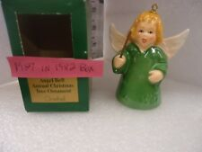 Goebel Angel Bell Ornament 1987 Green In 1982 Box