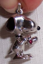 SNOOPY Charm Pendant Sterling Silver Rhodium Plated will never Tarnish Few Left