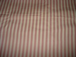 Vintage Cotton Fabric – Mauve / Off White Stripe – Gorgeous – #1580
