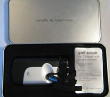 CROFT & BARROW GOLF SCOPE 4X10 POWER WITH GOLF COUNTER IN TIN BOX