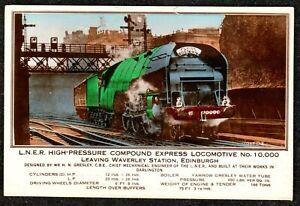 1930 EDINBURGH FLYING SCOTSMAN TRAIN PASSED WAVERLEY STATION REAL PHOTO POSTCARD