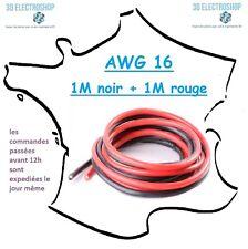 2 mètres de fil électrique extra souple AWG 16, imprimante 3D, modelisme, CNC