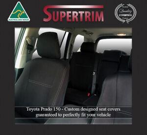 Premium Neoprene Waterproof FRONT PAIR Seat Covers fit Toyota Prado 150 series