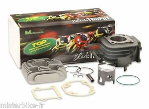 Pack Cylindre Culasse Top Performances Black Trophy 50cc MBK Booster Yamaha Bw's