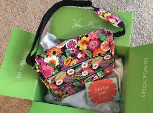 Vera Bradley Messenger Bag Va Va Bloom NWT NEW Tote Craft School Floral Pattern