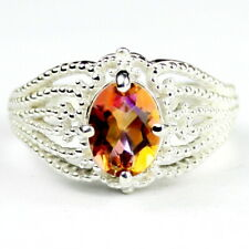 Twilight Fire Topaz, 925 Sterling Silver Ladies Ring, SR365-Handmade