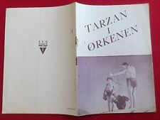 "Danish movie program."" Tarzan´s Desert Mystery""1943.Johnny Weissmuller."