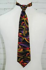 Claude Montana Paris Men's Necktie Tie 100% Silk Italy Mod Modern 1990's Print
