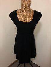 Portmans Women's Black Corporate Cocktail Dress Size 12 Pockets Skater Dress