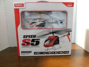 NEW--Syma Speed S5 Remote Control HELICOPTER Gyroscope 3 Channel Remote Ages 14+