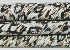 LEOPARD PRINT on IVORY vintage Lambskin leather skin skins 6sqf 0.9mm #A6472