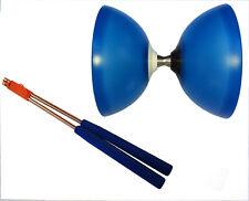 Henrys Vision Free Diabolo BLAU mit Kugellager/Freilauf + Henrys Alustäbe blau