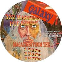 GALAXY MAGAZINE - SCIENCE FICTION - 332 ISSUES - 1950s, 1960s, 1970s -PDF,2 DVDs