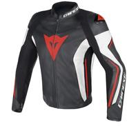 New Dainese Assen Leather Jacket Men's EU 52 Black/White/Red #1533760N3252