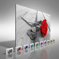 Rose On Wood Canvas Print Large Picture Wall Print