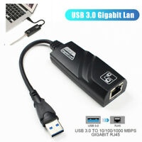 USB 3.0 toRJ45 Gigabit Netzwerk LAN Adapter Internet Connector Hub Kabel FürXUI