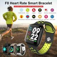2020 F8 Smart Watch Waterproof Fitness Tracker Heart Rate Monitor iOS Android