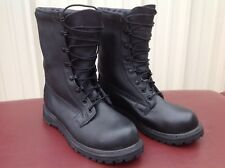 Rocky Vibram RB/01-01 Black Leather Military Motorcycle Lace-Up Ankle Boots 8W