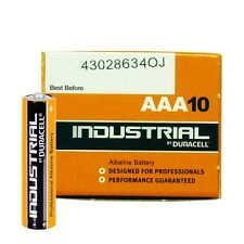 10 Batterie Duracell Industrial Procell Pile Alcaline Ministilo AAA