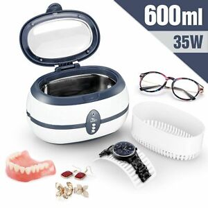 Ultrasonic cleaner, timer, digital jewelry, glasses and watch cleaner 600ml