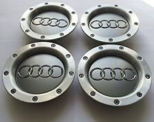 4X AUDI Wheel Rim Center Hub Caps A2 A3 A4 A6 S6 A8 TT RS6 8D0601165K NEW