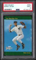 (2) CARD LOT 1993 Select #360 DEREK JETER RC HOF New York Yankees PSA 9 Mint
