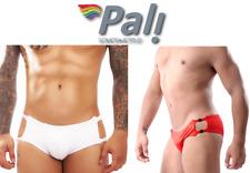 Pali Swimsuit Men Sexy Bikini Swim Briefs Swimwear Side Cut Unclip-able Sides
