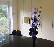 Black/White flowers & FREE vase, FREE 20 LED lightsGift weddings,lounge dining