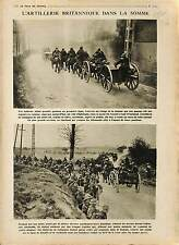 Bataille de la Somme Artillery British Army Canada Soldiers/George V   1918 WWI
