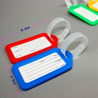 5Pcs Travel Luggage Bag Tag Address ID Name Label Plastic Suitcase Baggage Tags
