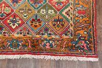 Vintage Pastel Geometric Bakhtiari Oriental Runner Rug Vegetable Dye Carpet 5x10