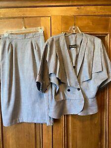 Vintage 1980'-90's Womens Positive Influence Grey Suit Sz 11/12