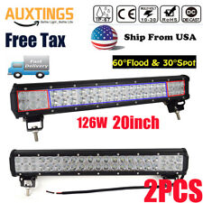 2X20 inch 126W LED LIGHT BAR COMBO Offroad DRIVING LAMP 4WD WORK ATV UTE 20'' US