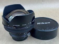 Nikon NIKKOR 15mm f/5.6 Ai Super Wide Angle Lens - Works Great