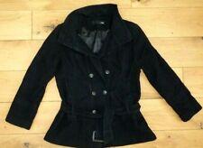 Ladies Next Short  Belted Black  Coat Size 18