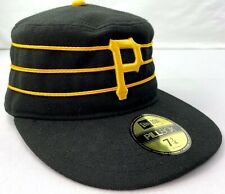 PITTSBURGH PIRATES Hat 7 1/4 Fitted New Era Pillbox Cap VTG 1970's Throwback MLB