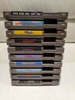Lot of 10 NES Nintendo Games - Mario 1,2,3, Turtles, Tetris, Robocop, and More!