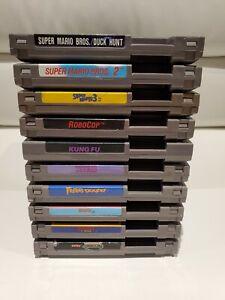 Lot of 10 NES Nintendo Games - Mario 1,2,3, Turtles, Tetris, Robocop, and More!