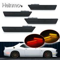 Front & Rear Side Marker Lamp LED Light For 2008-2014 Dodge Challenger Amber+Red