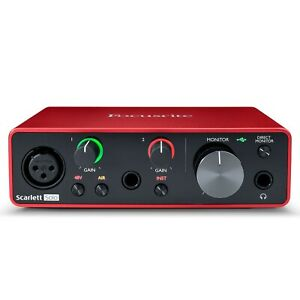 """Focusrite Scarlett Solo 3rd Generation - Interface Audio 2 IN 2 Out USB """" C """""""