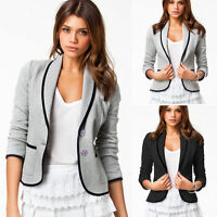 Women's OL Work Office Lady Long Sleeve Casual Blazer Suit Jacket Coat Outwear