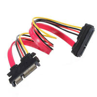 30cm 22pin 7+15pin Male To Female SATA Data HDD Power Extension Cable Connector~