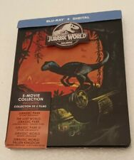 JURASSIC WORLD - PARK 5 MOVIE COLLECTION STEELBOOK BLU-RAY - Never Used