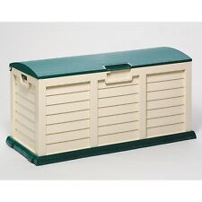 XL SIZE STARPLAST GARDEN STORAGE BOX CHEST UTILITY WATERPROOF SHED GREEN LID