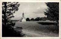 Höchenschwand Schwarzwald Echtfoto-AK ~1950/60 Teilansicht vom Feldweg gesehen