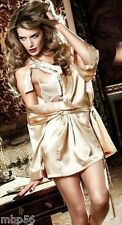 KIMONO SEXY NUISETTE BEIGE TENUE HOT LINGERIE SEXY EVENING DRESS S 36 M 38